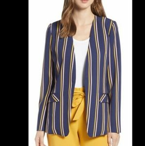 Halogen Plus Striped Open Front Spring Jacket 3X